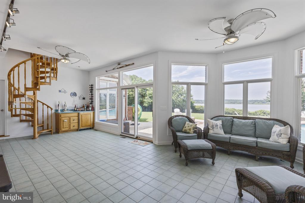 Sun room features wet bar and access to full bath - 3580 DEEP LANDING RD, HUNTINGTOWN