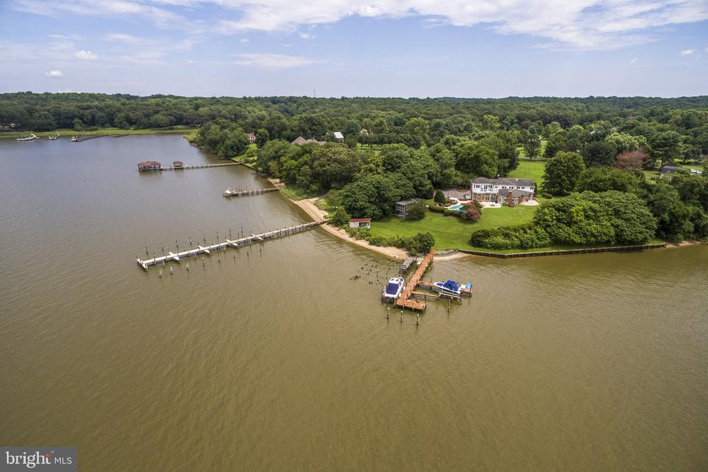 417 foot frontage on the Patuxent River - 3580 DEEP LANDING RD, HUNTINGTOWN
