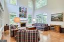 Sun-filled two-story family room - 3720 SPICEWOOD DR, ANNANDALE