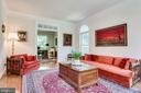 Living Room  leads to Study through French Doors - 3720 SPICEWOOD DR, ANNANDALE