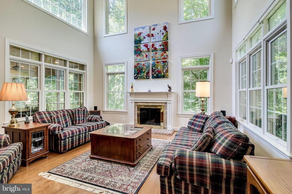 Gas Fireplace  in Family Room - 3720 SPICEWOOD DR, ANNANDALE