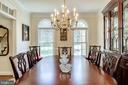 Dining Room with Palladian Windows - 3720 SPICEWOOD DR, ANNANDALE