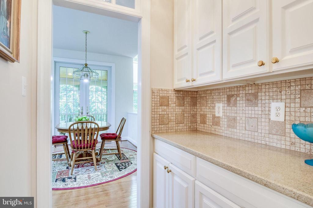 View from Butlers Pantry to Kitchen - 3720 SPICEWOOD DR, ANNANDALE