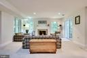 Recreation Room with gas fireplace - 3720 SPICEWOOD DR, ANNANDALE