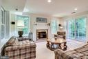 Walk-out Recreation Room to stone patio - 3720 SPICEWOOD DR, ANNANDALE