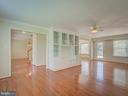 Living Room with Built-In Cabinets - 103 ENGLISH CT SW, LEESBURG