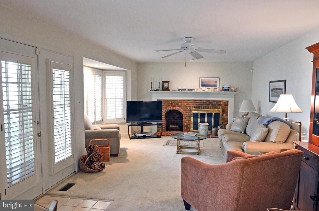 Family Room w/Cozy Fireplace - 14504 S HILLS CT, CENTREVILLE