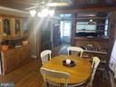 Main level dining area. - 13407 CATOCTIN FURNACE RD, THURMONT