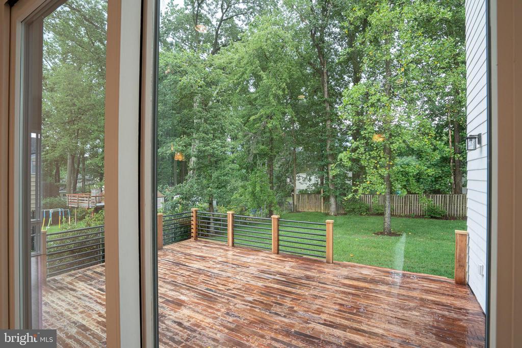 From sliding glass door - 110 TAPAWINGO RD SW, VIENNA