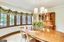Dining Room with curved bay windows - 9510 THORNHILL RD, SILVER SPRING