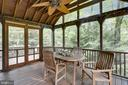 Screened Porch, ceiling fan,  and up-lighting - 9510 THORNHILL RD, SILVER SPRING