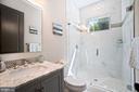 Main Level On-suite Bath / Frame-less shower glass - 5631 SOUTHAMPTON DR, SPRINGFIELD