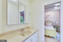 Jack and Jill bath vanity w tub/shower - 840 ELDEN ST, HERNDON