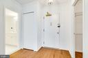 Inviting foyer w/ 2 closets from right & left - 3705 S GEORGE MASON DR #702S, FALLS CHURCH
