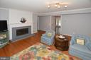 Gas Fireplace with mantel in Family Room - 20418 ROSEMALLOW CT, STERLING