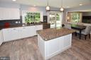 Wonderful Kitchen with island & pendant lights - 20418 ROSEMALLOW CT, STERLING