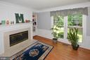 Den with 2 way fireplace, built -in  shelves - 20418 ROSEMALLOW CT, STERLING