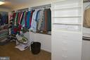 Walk In  MB closet with built in shelves - 20418 ROSEMALLOW CT, STERLING