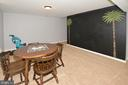 Recreation Room with Chalk board - 20418 ROSEMALLOW CT, STERLING