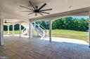 Bottom patio with two Hinkley fans - 14612 BRISTOW RD, MANASSAS
