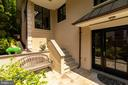 Front entry with flagstone patio - 3629 ALBEMARLE ST NW, WASHINGTON