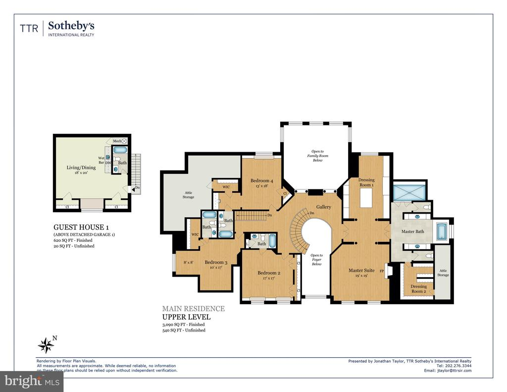 Floor Plan - Upper Level - 8548-A GEORGETOWN PIKE, MCLEAN