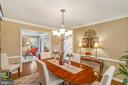 Crown molding and chair rail - 6411 SPRINGHOUSE CIR, CLIFTON