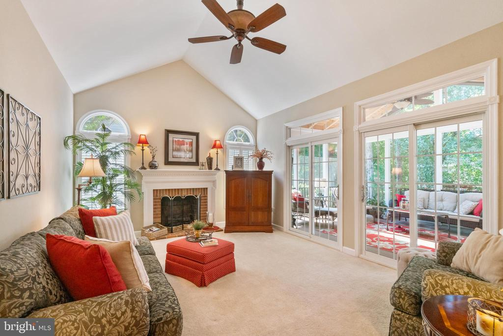 Cozy wood burning fireplace - 6411 SPRINGHOUSE CIR, CLIFTON