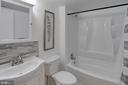 Hall bath just remodeled this July! - 9802 KINGSBRIDGE DR #001, FAIRFAX