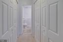 Owner's suite has TWO closets! - 9802 KINGSBRIDGE DR #001, FAIRFAX