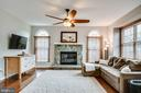 Family Room off Kitchen w/ Gas Fireplace - 25973 STINGER DR, CHANTILLY
