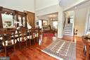 New exotic wood floor on main level and stair - 46521 HOLLYMEAD PL, STERLING