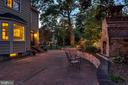 Tranquil bricked patio with outdoor fireplace - 3812 WASHINGTON WOODS DR, ALEXANDRIA