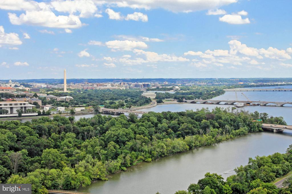 View from  2503 Living Room and Dining Room - 1111 19TH ST N #2503, ARLINGTON