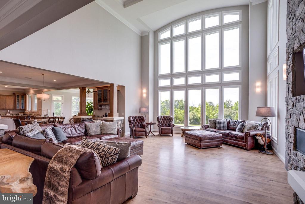 Family Room w/Wall of Windows - 41820 RESERVOIR RD, LEESBURG