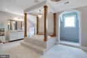 Master Bath w/Wood Pillars - 41820 RESERVOIR RD, LEESBURG