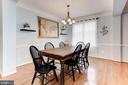 Dining Room - 26048 IVERSON DR, CHANTILLY