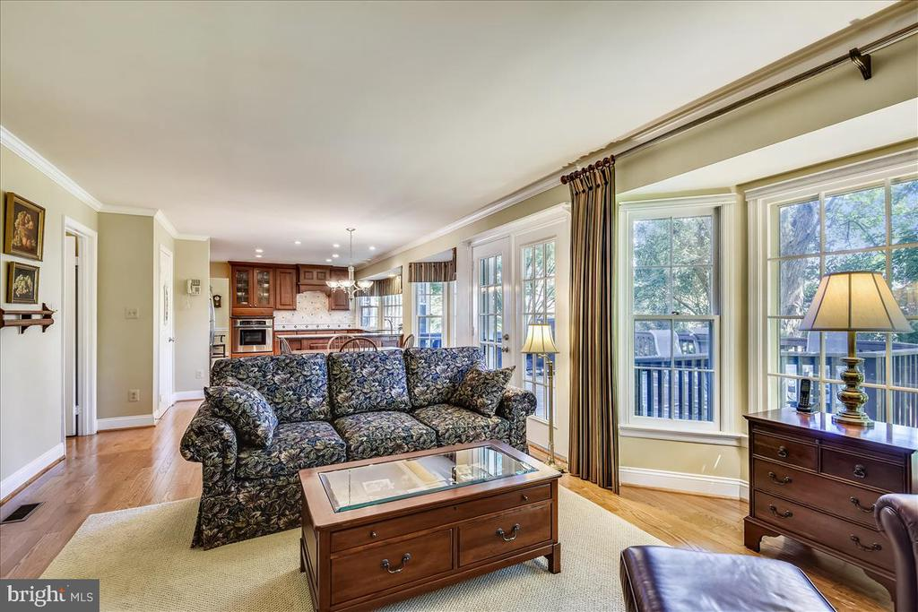 Family room to kitchen,  ideal floor plan! - 14826 HUNTING PATH PL, CENTREVILLE