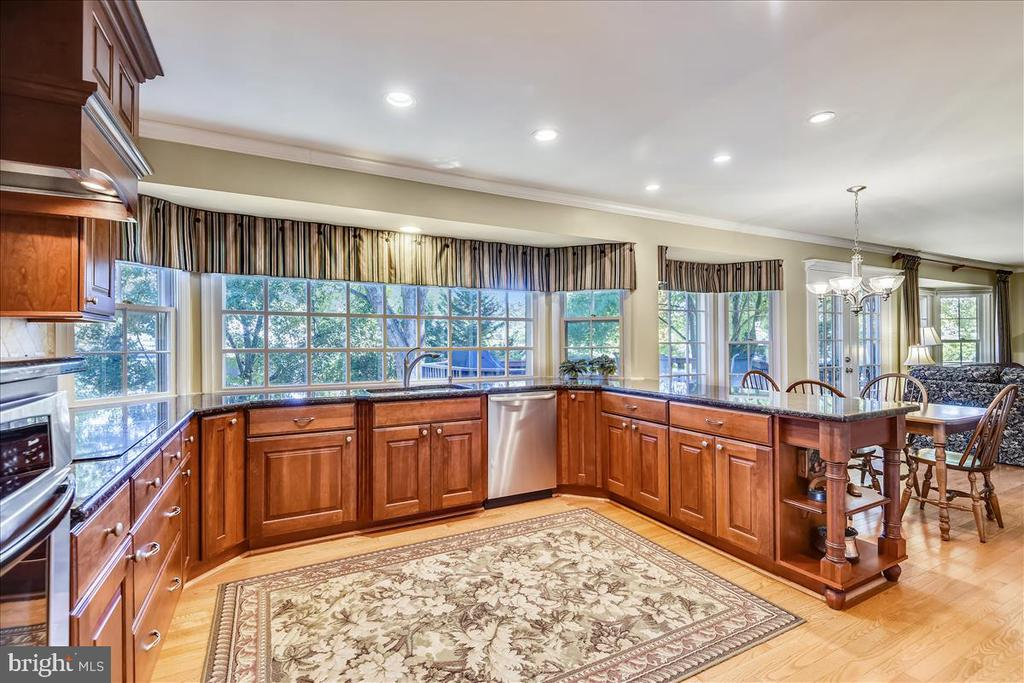 Updated kitchen w/ chefs grade apps & granite - 14826 HUNTING PATH PL, CENTREVILLE