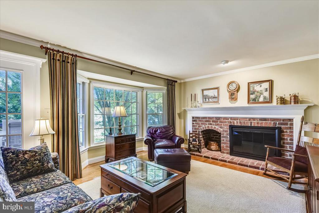 Gas fireplace in family room and access to deck - 14826 HUNTING PATH PL, CENTREVILLE