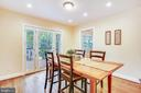 Eating area off of kitchen, exit to TREKS deck. - 8327 STONEWALL DR, VIENNA