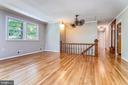 Built-in Hall Tree at top of steps - 6811 WINTER LN, ANNANDALE