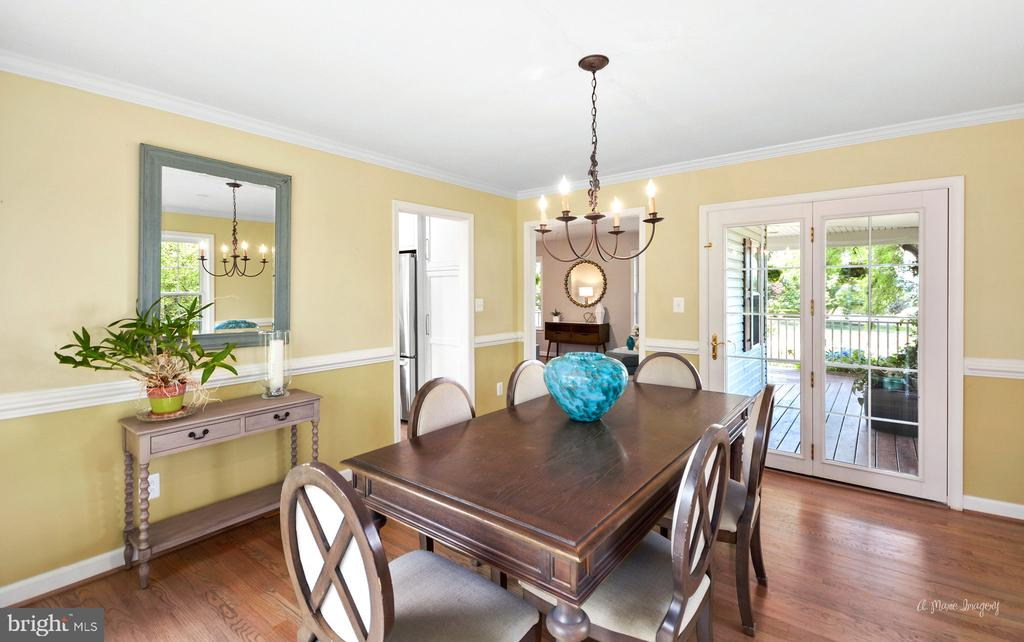Formal dining room - 9801 BIG WOODS CT, IJAMSVILLE