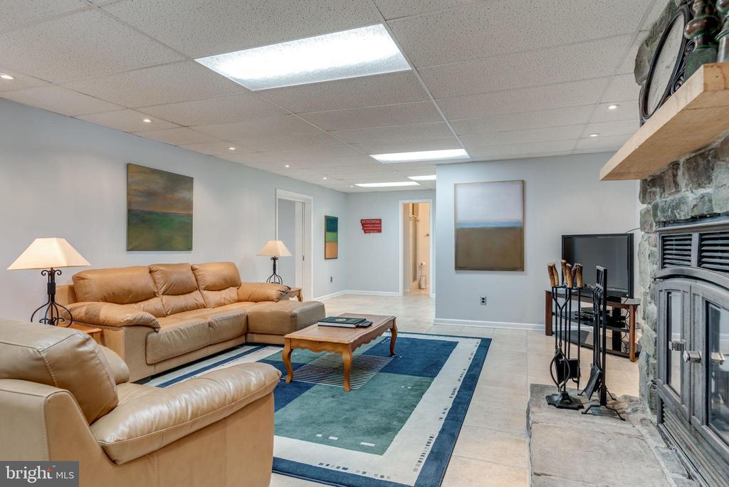Basement Rec Room with Fireplace - 1676 LOUDOUN DR, HAYMARKET