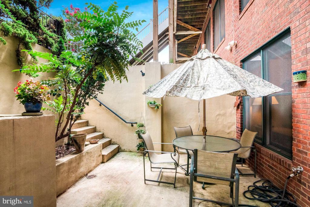 Rear gardens & patio! - 520 1/2 13TH ST SE #A, WASHINGTON