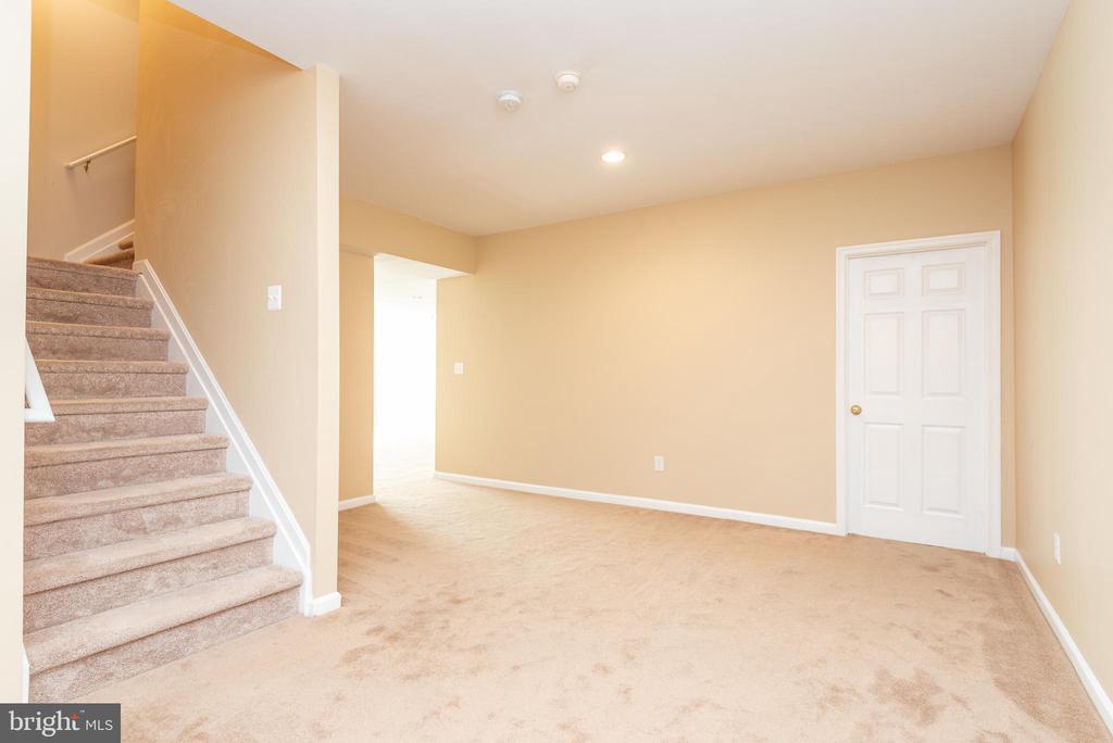 Private basement stairs with door - 6033 SUMNER RD, ALEXANDRIA