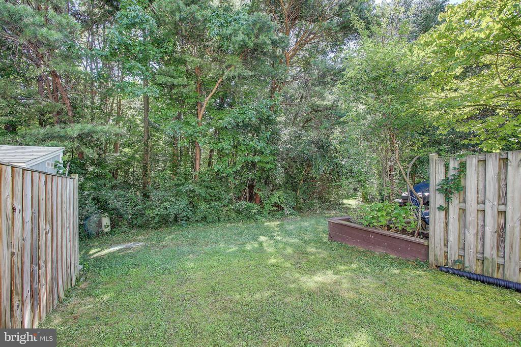 Rear Yard Backs to Wooded Greenery - 8037 SKY BLUE DR, ALEXANDRIA
