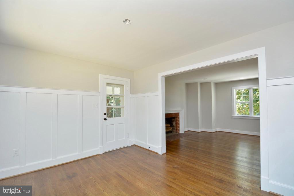 Separate Dining Room with high wood panel molding - 7416 LEIGHTON DR, FALLS CHURCH