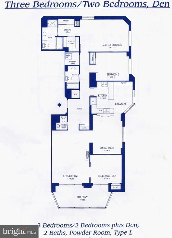Floor Plan - 19365 CYPRESS RIDGE TER #417, LEESBURG
