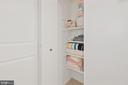 Linen Closet - 1931 WILSON LN #102, MCLEAN